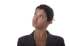 Donna di affari infastidetta Fotografie Stock