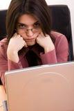Donna di affari infastidetta Fotografia Stock