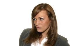 Donna di affari intensa Fotografia Stock Libera da Diritti