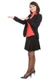 Donna di affari isolata Fotografie Stock Libere da Diritti