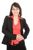 Donna di affari isolata Fotografia Stock Libera da Diritti