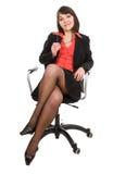 Donna di affari isolata Immagini Stock