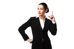 Donna di affari isolata Immagini Stock Libere da Diritti