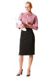 Donna di affari, isolata Fotografia Stock