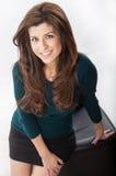 Donna di affari ispanica sicura Fotografie Stock Libere da Diritti