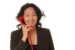 Donna di affari maggiore Fotografia Stock