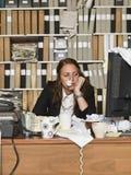 Donna di affari malata Immagini Stock Libere da Diritti
