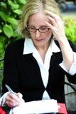 Donna di affari matura Fotografia Stock Libera da Diritti