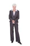 Donna di affari matura felice Immagine Stock