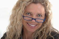 donna di affari maturi con i vetri Fotografia Stock Libera da Diritti