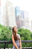 Donna di affari nel Central Park di New York Immagine Stock