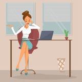 Donna di affari nel luogo di lavoro Fotografia Stock Libera da Diritti