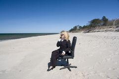 Donna di affari nel seclusion fotografie stock libere da diritti