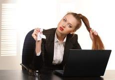 Donna di affari nell'ufficio Immagine Stock Libera da Diritti