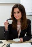 Donna di affari nell'ufficio Immagini Stock