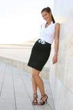 Donna di affari nella città fotografie stock