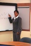 Donna di affari nella riunione Fotografia Stock