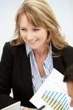 Donna di affari nella riunione Immagini Stock