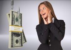 Donna di affari nella sorpresa Immagine Stock