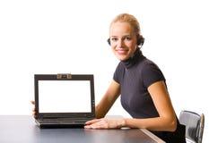 Donna di affari o segretaria Immagine Stock Libera da Diritti