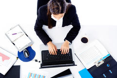 Donna di affari occupata Immagine Stock