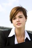 Donna di affari penetrante Fotografie Stock Libere da Diritti