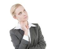 Donna di affari Pensive fotografie stock
