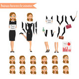 Donna di affari per l'animazione Immagine Stock