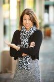 Donna di affari perplessa Fotografia Stock
