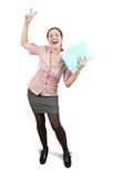 Donna di affari positiva Fotografia Stock Libera da Diritti