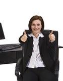 Donna di affari positiva fotografia stock