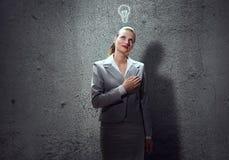 Donna di affari premurosa fotografie stock