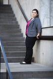 Donna di affari - prendere una rottura Immagini Stock Libere da Diritti