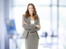 Donna di affari professionale sorridente Fotografia Stock