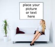 Donna di affari Relax Immagini Stock Libere da Diritti