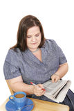Donna di affari - ricerca di lavoro Fotografie Stock