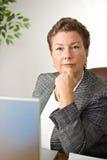 Donna di affari risoluta immagini stock libere da diritti