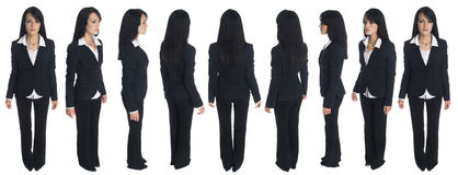 Donna di affari - rotazione Fotografia Stock