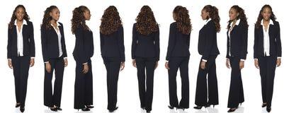 Donna di affari - rotazione Immagini Stock