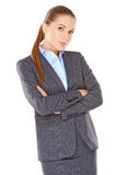 Donna di affari scettica Fotografie Stock