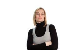 Donna di affari seria sicura immagini stock libere da diritti