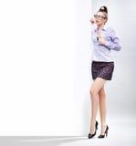 Donna di affari sexy Fotografie Stock