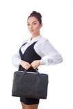 Donna di affari sicura With Briefcase tutti fotografia stock