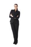 Donna di affari sicura con le braccia attraversate Immagini Stock Libere da Diritti