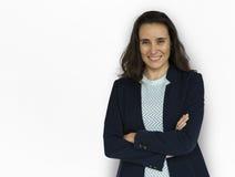Donna di affari Smiling Happiness Portrait Immagine Stock Libera da Diritti