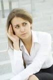 Donna di affari sollecitata Fotografia Stock Libera da Diritti