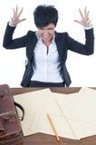 Donna di affari sollecitata Immagine Stock Libera da Diritti