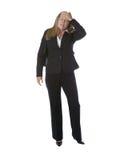 Donna di affari sollecitata fuori Fotografia Stock Libera da Diritti