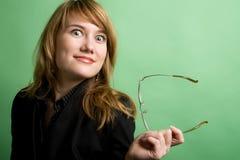 Donna di affari sorpresa Immagini Stock Libere da Diritti