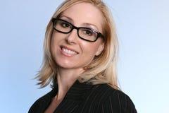 Donna di affari sorridente Fotografia Stock Libera da Diritti